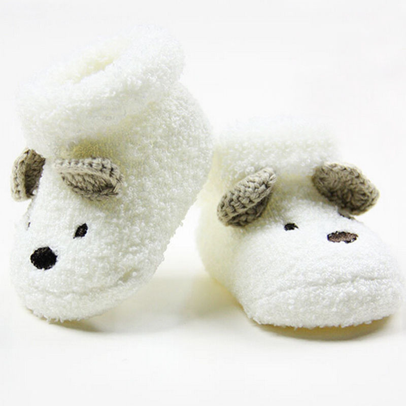 1 Pair Hot Newborn Toddler Infant Baby Socks Unisex Boy Girls Infant Cute Bear Crib Warm Shoes Toddler bebe Sapatos 0 -12 Month(China (Mainland))
