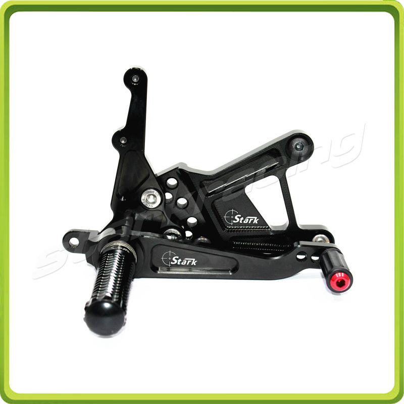 RACING USE ADJUSTABLE REARSETS fit for BMW S1000 RR 2009 2010 2011 2012 2013 2014 S1000RR rear set foot pegs BLACK