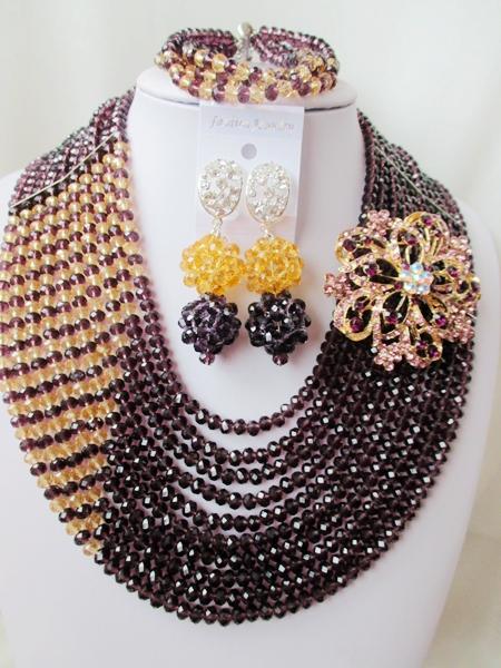 The latest fashion jewelry, wedding beadwork Africa Nigeria bead necklace bracelet sets A532<br><br>Aliexpress