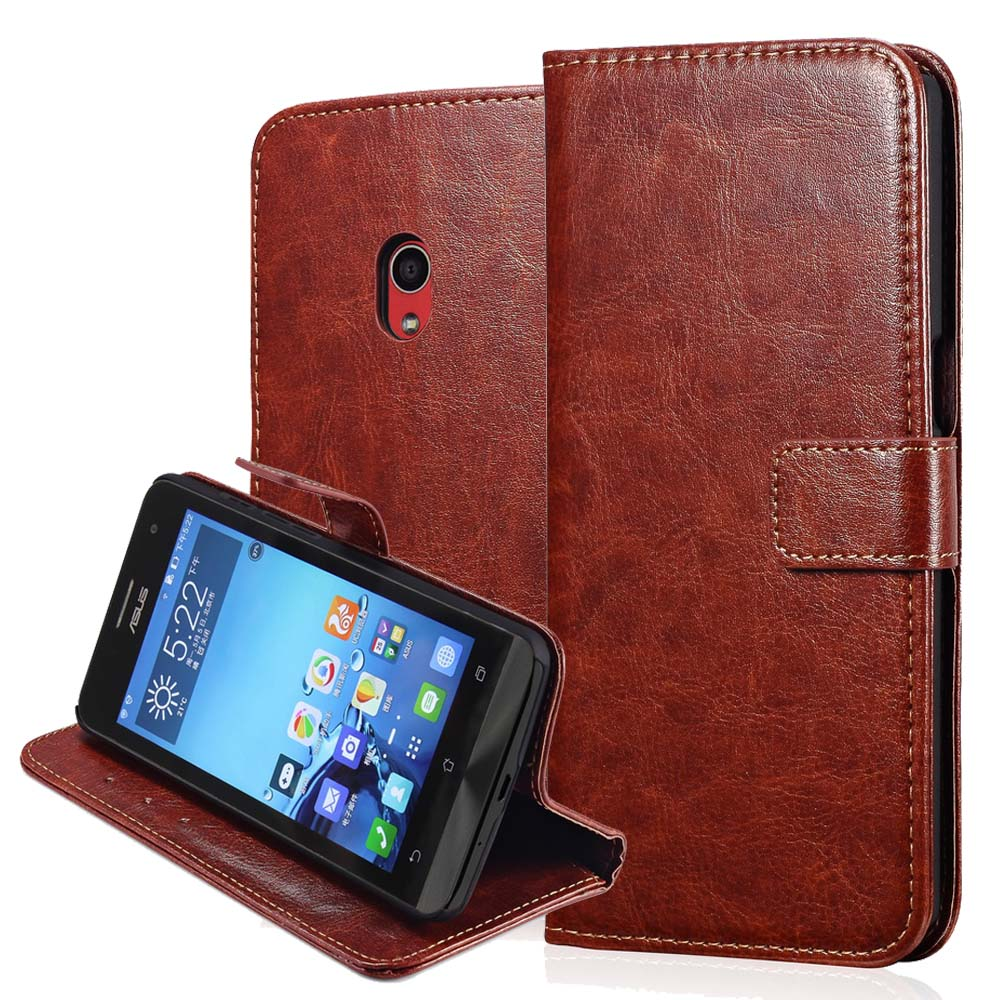 Zen Fone 5 Vintage Wallet Leather Case For Asus Zenfone 5 A501CG A500CG Zenphone 5 Card Holder Stand Design Mobile Bag Cover(China (Mainland))
