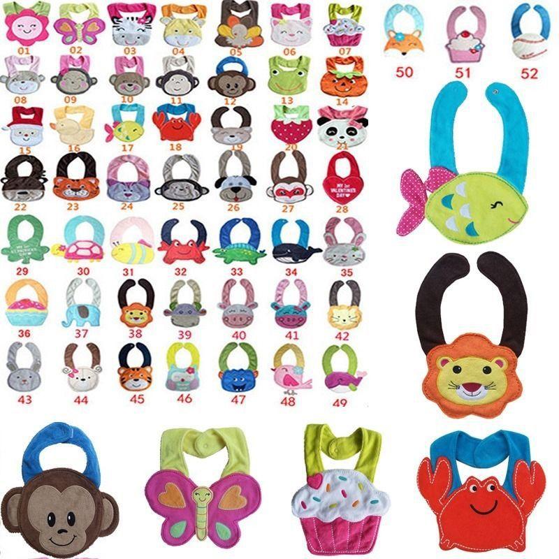 Free Shipping Baby Towel Saliva Waterproof New Kids Cartoon Pattern 3 Layer Toddler Lunch Bibs Drop Shipping