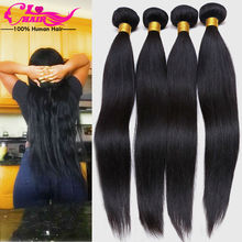 Malaysian Virgin Hair Straight 6a Unprocessed Virgin Human Hair 4 Bundles Cheap Human Hair Straight Virgin extension(China (Mainland))