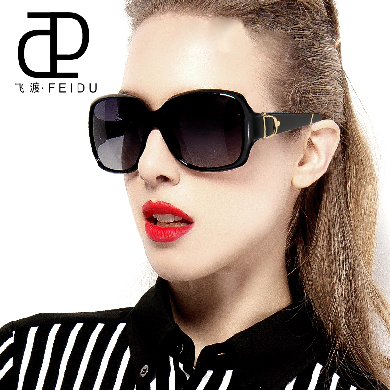 FEIDU Sunglasses Women Brand Original Designer Luxury Butterfly Pattern Points Women Retro Vintage Uv400 Oculos De