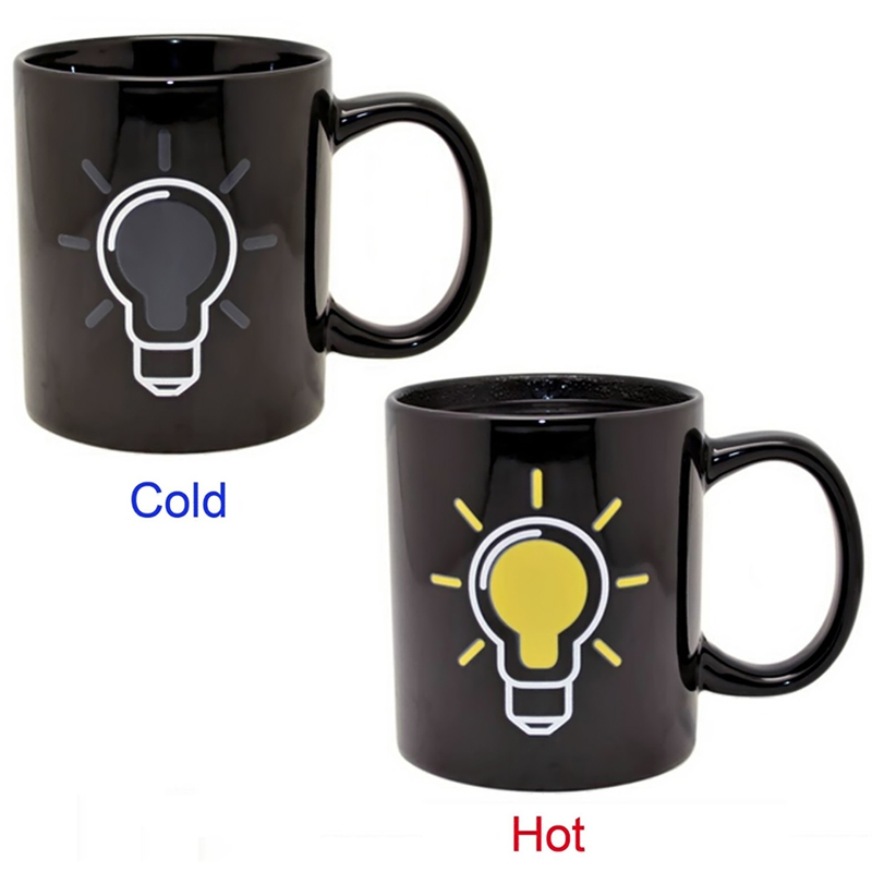High Quality Ceramic Coffee Tea Milk Heat Color Change Mug Cup (Light Bulb)(China (Mainland))