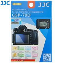 JJC GSP-70D 9 H Super durezza Anti-acqua Ottico Ultra-sottile Vetro Temperato Protezione Dello Schermo di HD Per Canon EOS 70D Fotocamera 80D(China (Mainland))