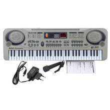 "Children 21"" Beginner Electric Piano LED 61 Keys Music Electronic Keyboard USB MP3 Microphone Education Toy For Kids Gift(China (Mainland))"