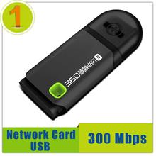 Alta Qualidade 300 Mbps Adaptador Wi-fi Roteador Placa de rede Sem Fio Mini USB Receptor WI-FI Embutido Dupla Antena para PC Portátil(China (Mainland))