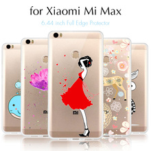 Mobile Phone Cover Case for Xiaomi Mi Max Case Cartoon Cover 6.44 Ultrathin Sllicone Back Cover TPU Gel Fundas for Xiaomi Mi Max(China (Mainland))