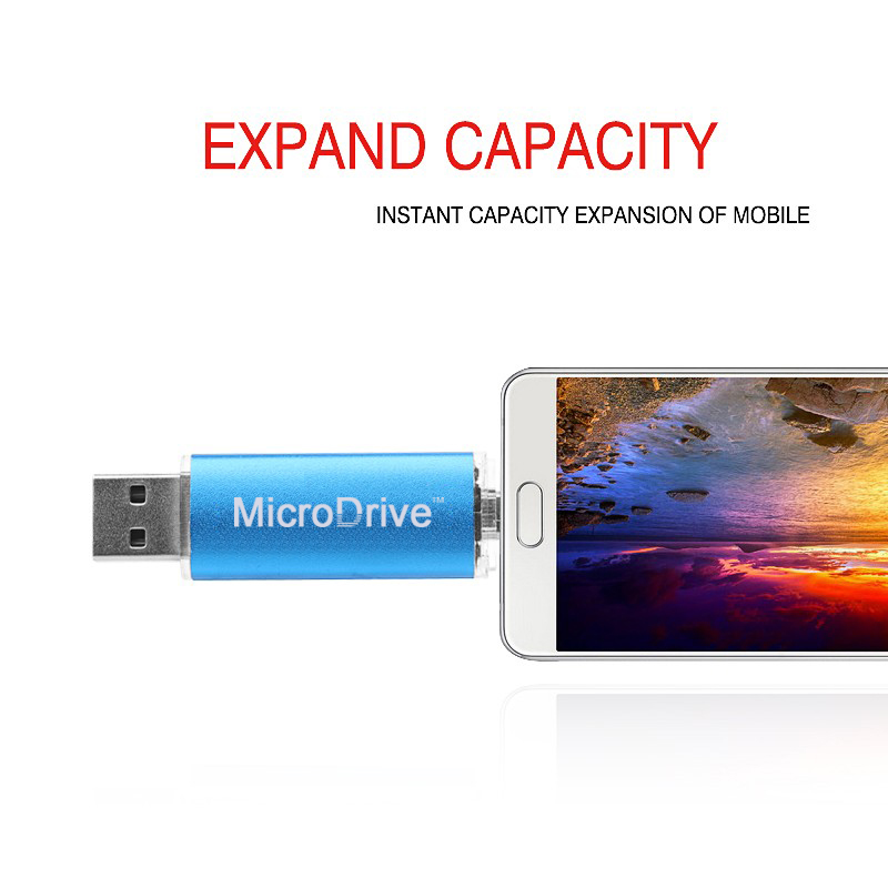 Real capacity Smart Phone USB Flash Drives 8G 16G 32G 64GB 128GB OTG external storage micro usb memory stick for android(China (Mainland))
