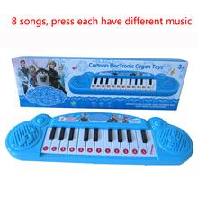 Elsa Children Piano Keyboard Electronic Toy,Cartoon Baby Mini Keyboard Juguetes Educativos Music Toy Musical Instrument(China (Mainland))