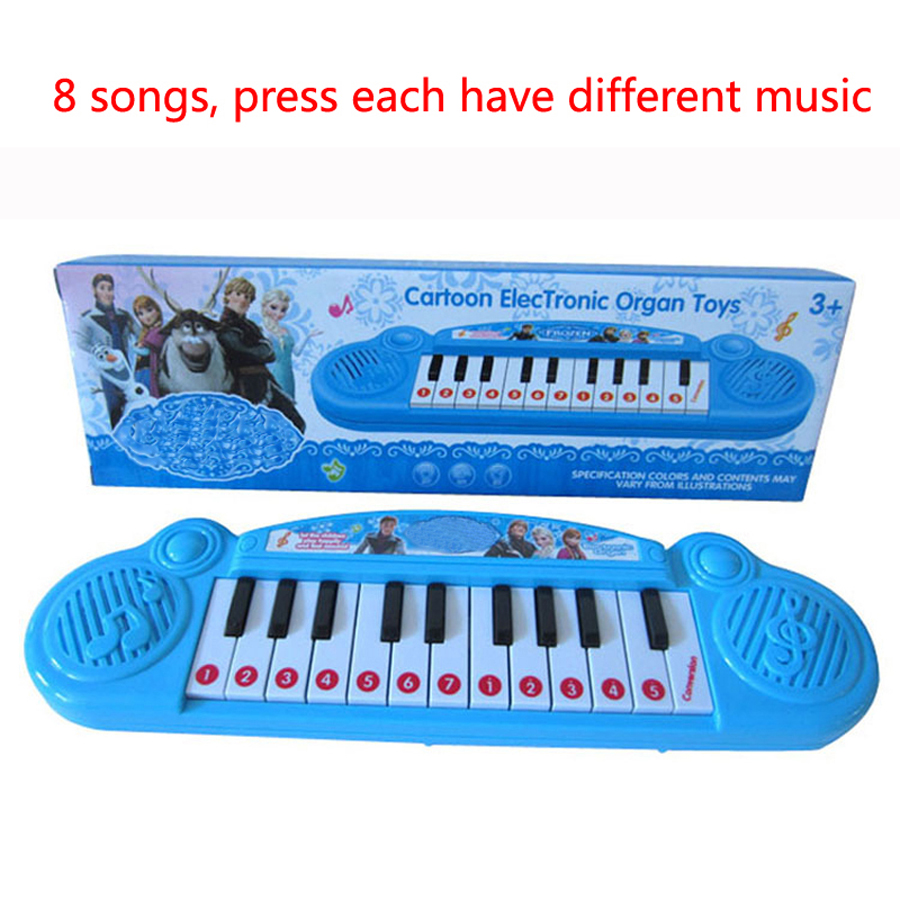 Elsa Children Piano Keyboard Electronic Toy,Cartoon Baby Mini Keyboard Juguetes Educativos Music Toy Musical Instrument(China (Mainland))