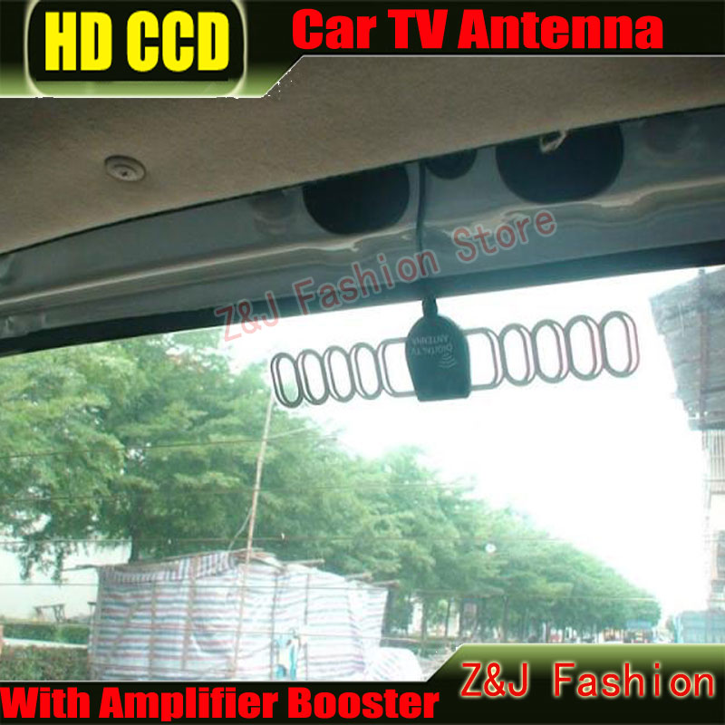 Promotion !!! Car DVB-T ISDB-T Digital TV Antenna Active TV Antenna with Amplifier special, F+FM for Europe Car Antenna(China (Mainland))