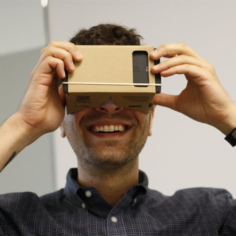 "DIY 3D Glasses Virtual Reality VR Mobile Phone 3D Glasses for 5.0"" Screen Google VR Google Cardboard(China (Mainland))"