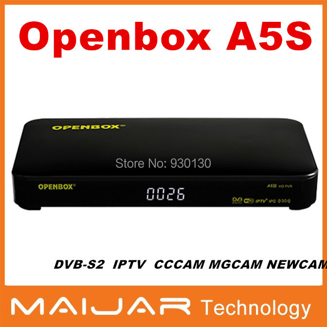 1PC free shipping cheaper HD internet sharing DVB-S2 support CCCAM MGCAM NEWCAM IPTV digital satellite receiver Openbox A5S(China (Mainland))