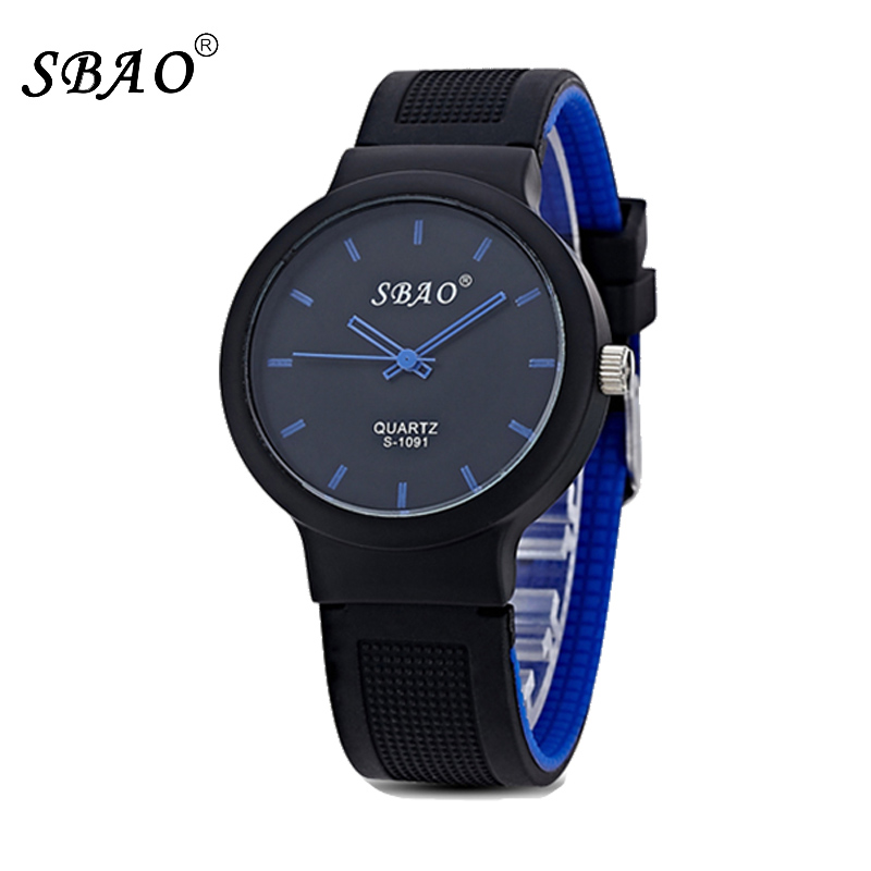 Sbao Silicone Watch Women Girl Children Watches For Boys Brand Luxury Casual Men Female Clock Student Quartz Rubber Kids Watches(China (Mainland))