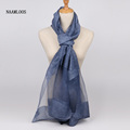 2017 New Release Women Silk and Cashmere Scarf Bandana Luxury Brand Transparent Solid Scarves Long Beautiful