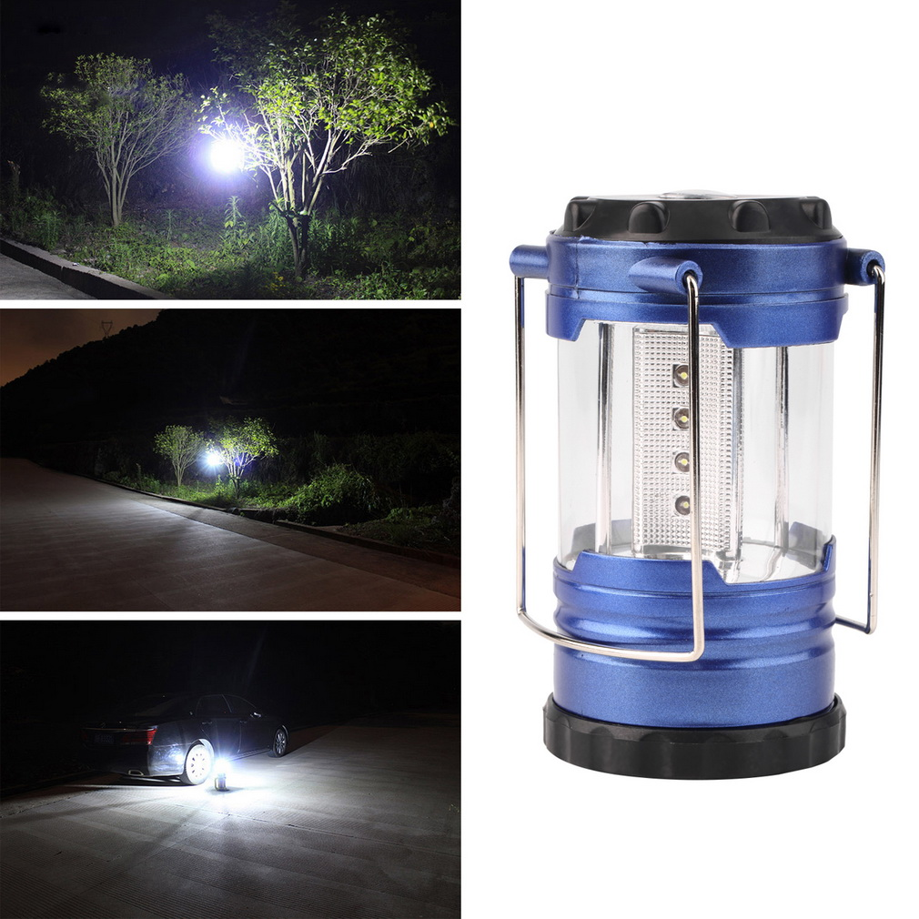 Telescopic Camping Lantern Bivouac Hiking Light 12 LED Portable with Compass<br><br>Aliexpress