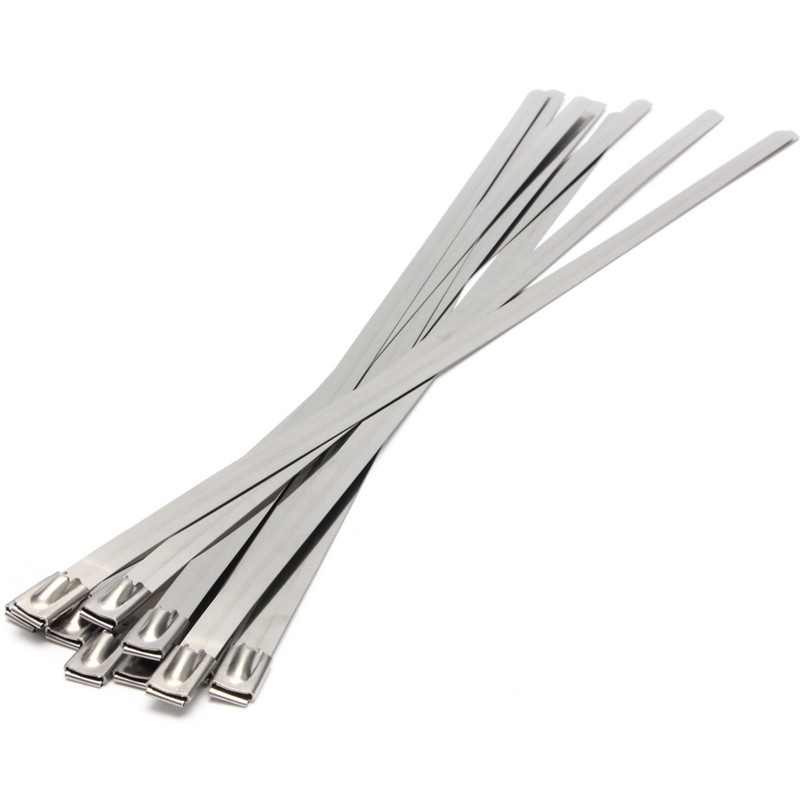 Strong Stainless Steel Marine Grade Metal Cable Ties Zip Tie Wraps Exhaust Lowest Price(China (Mainland))