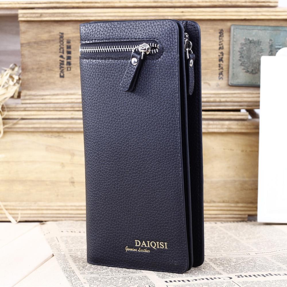 Fashion brand upscale men clutch bag,2015 new style genuine leather men wallet,zipper korean version men purse free shipping<br><br>Aliexpress