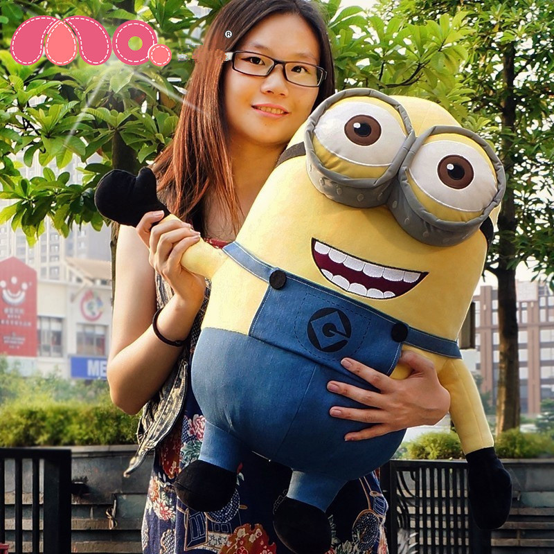 2Pcs/Lot Cheap Minion Toys Despicable Me 3D Eyes Yellow Doll 20CM Minions Jorge Stewart Plush Toys For Kids Gift Eduction Toys<br><br>Aliexpress