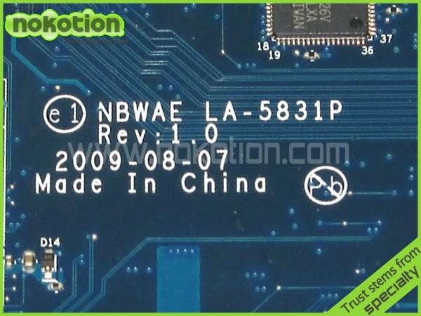 מחשב נייד לוח אם עבור TOSHIBA SATELLITE L450 L450D סדרת LA-5831P K000085470 AMD DDR3 Mainboard אמא לוחות מלא נבדק