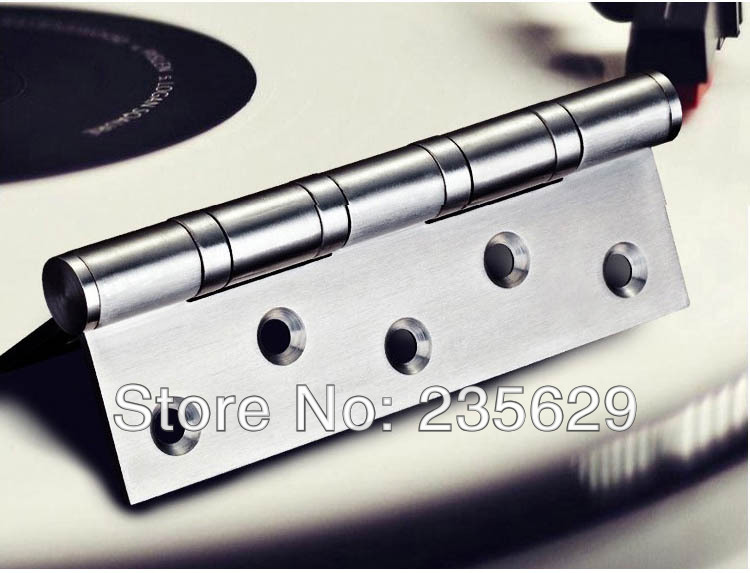 Free Shipping, ball bearing hinge, 5inch*3.5inch*3mm, stainless steel Hinges for timber door Hinge, no noise, long life(China (Mainland))