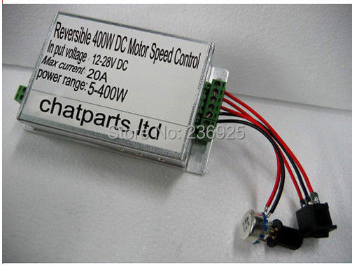 Фотография High quality 400W, 12V 24V, High-Power DC Motor Speed Controller, Forward Reverse Control, Free shipping DG1
