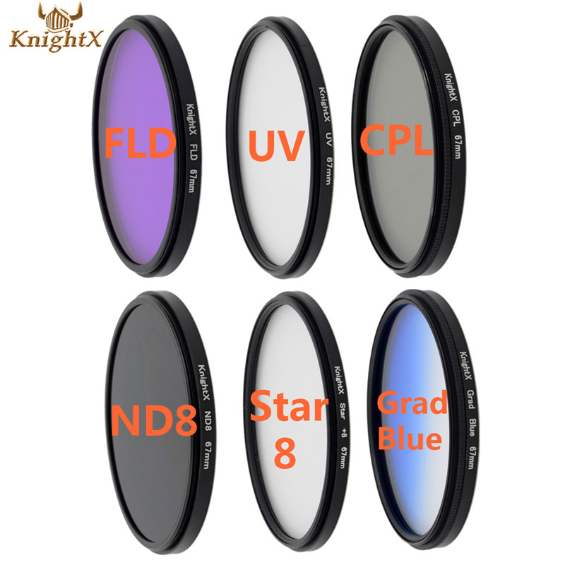 KnightX nd filter set camera filter Star line FLD UV CPL lens for Sony Canon EOS 5d mark ii for Nikon D3200 d5200 d3300(China (Mainland))