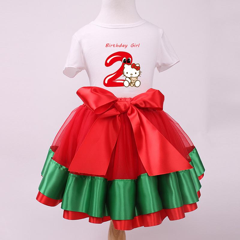 2015 Autumn Girls Princess Paty Clothing hello kitty T shirt tutu skirt Baby Minnie Clothes 2pcs sets for 1-8 Years Kids Summer(China (Mainland))