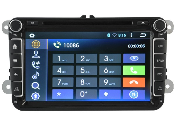 Quad-Core Android 5.1.1  CAR DVD player navigation FOR VW SHARAN(2010-2011) car audio stereo Multimedia GPS support OBD