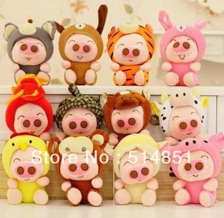 20 cm Minion bonito grande brinquedo de pelúcia de presente de aniversário 1-12models 12 muitos estilo terno(China (Mainland))