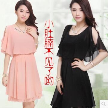 2015 new Europe fashion slim women summer dress plus size 3 XL vintage chiffon dress elegant party dresses ladies dress M670(China (Mainland))