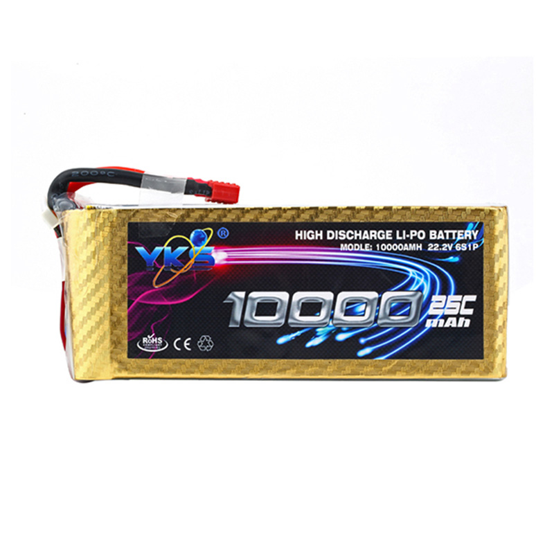 New High Power YKS Lipo Battery 22.2V 10000mah 25C MAX 40C T Plug for DJI S1000 RC Car Boat Airplane Multirotor Part Li -Polymer