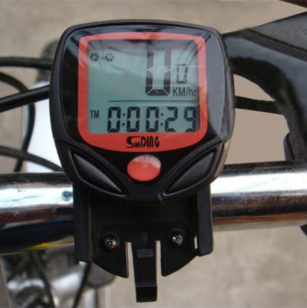 Cycling Computer Leisure 14-Functions Waterproof Odometer Speedometer With LCD Display Bike Speedometer Bicycle Cycling Computer(China (Mainland))