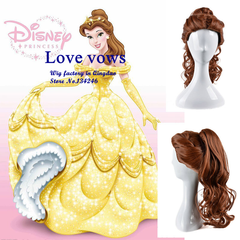 Europe and the cartoon Beauty and the Beast wig cosplay wig cos wig Princess Bell, stock, factory direct<br><br>Aliexpress