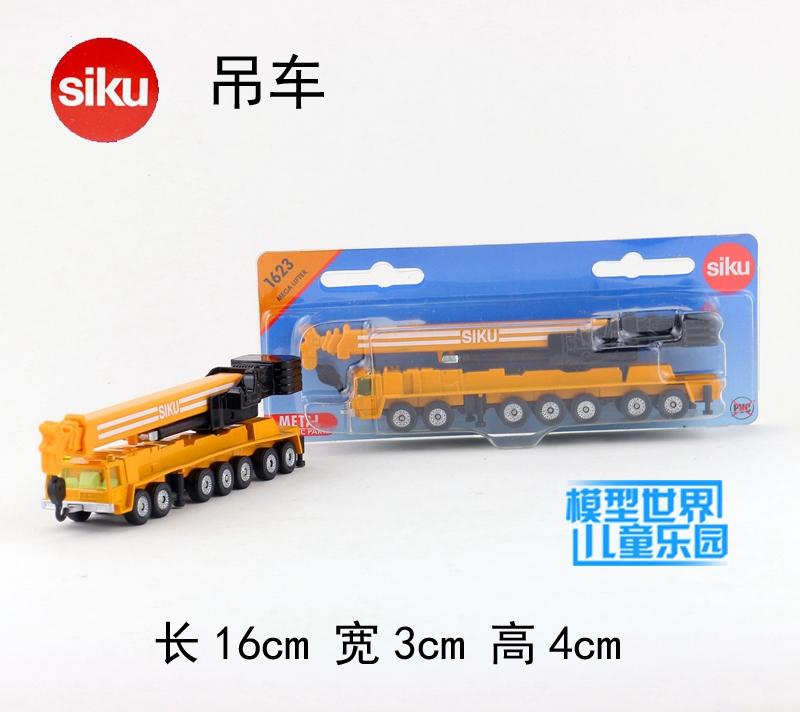 Gift 16cm 1:64 SIKU crane hoist car engineering van plastic model collection game boy children toy(China (Mainland))