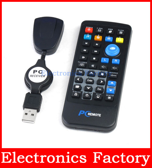 USB Media Wireless Mouse Remote Control Controller For Loptop PC Computer Center Windows Xp Vista 18m Distance(China (Mainland))