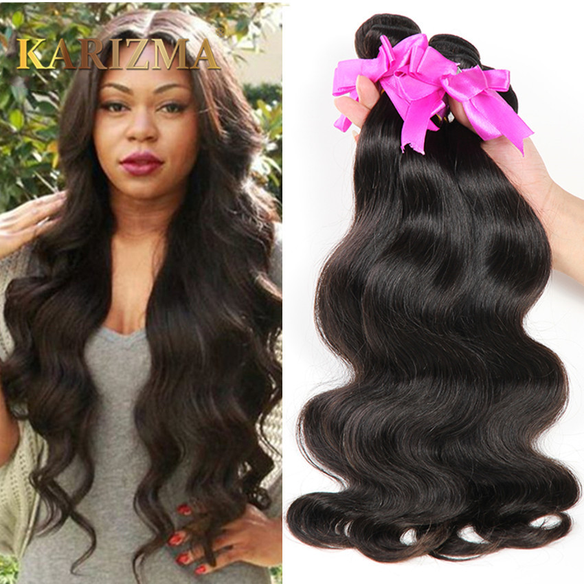 Karizma Hair 8A Brazilian Body Wave 3 Bundles Brazilian Virgin Hair Body Wave No Shedding 100g Brazilian Human Hair Extensions