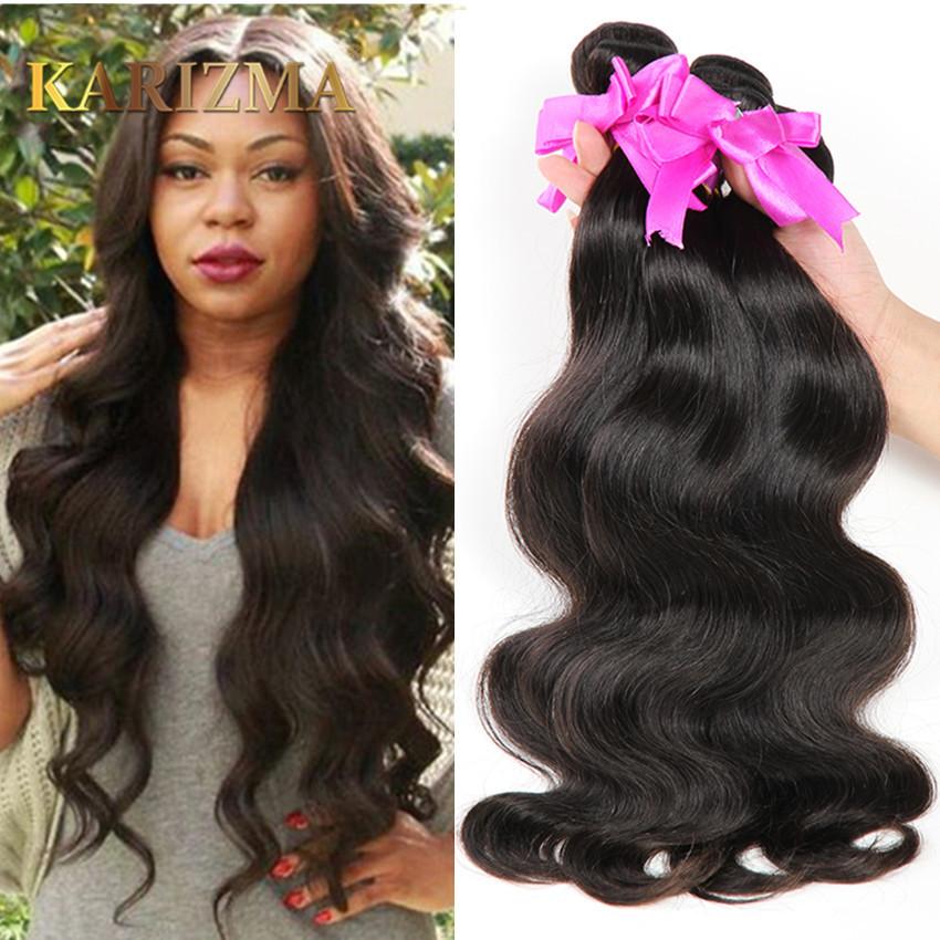 Karizma Hair 8A Brazilian Body Wave 3 Bundles Brazilian Virgin Hair Body Wave No Shedding 100g Brazilian Human Hair Extensions