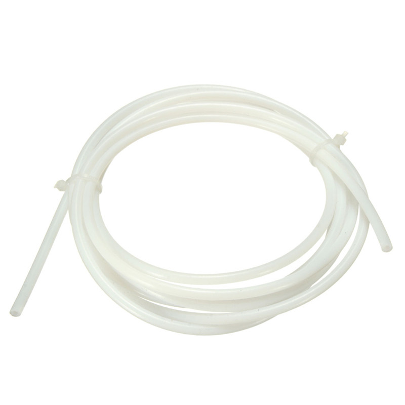 2M White PTFE Tube For Teflon PiPe for outer Tubing for RepRap 3D Printer Extruder 1.75mm filament ID 2mm OD 4mm(China (Mainland))