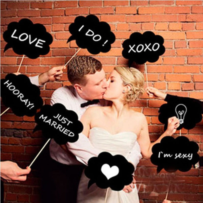 New Arrival 10 Pcs DIY Funny wedding Photo Booth Props Lovely Party Wedding Accessories props(China (Mainland))