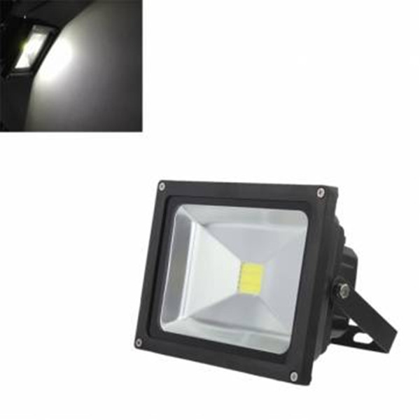 10W Pure White 900LM Waterproof LED Flood Lights Outdoor Flood Lamps AC110-220V Spotlight Projection Lamp Home Garden Light(China (Mainland))