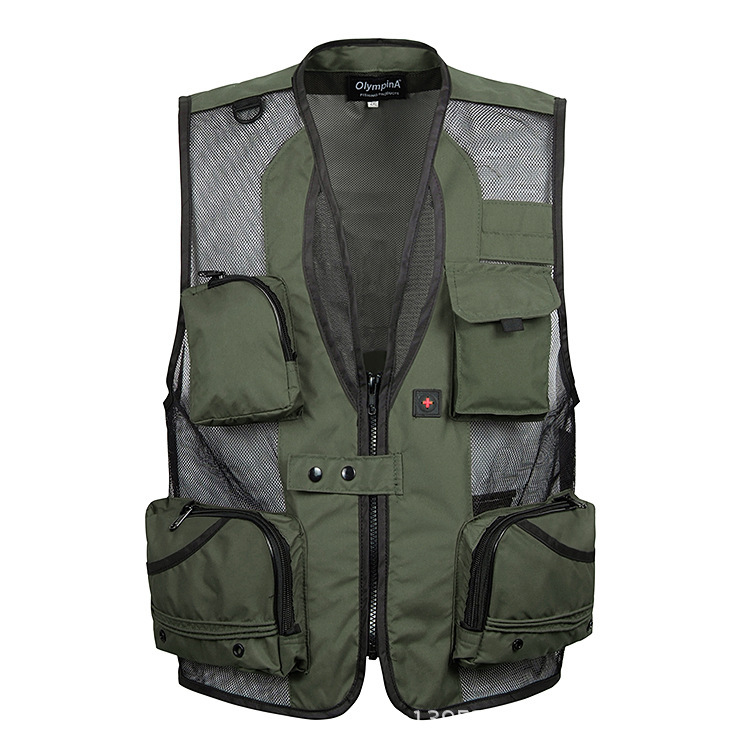 Free Shipping Men Fly Fishing Vests Mesh Multi-pocket Photographer Vest Men Casual Reporter Director Outdoor Military Style Vest(China (Mainland))