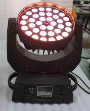 HOT 36*18w led moving head zoom wash light RGBWY+UV 6in1 zoom led wash moving head light stage night club disco bar lighting(China (Mainland))
