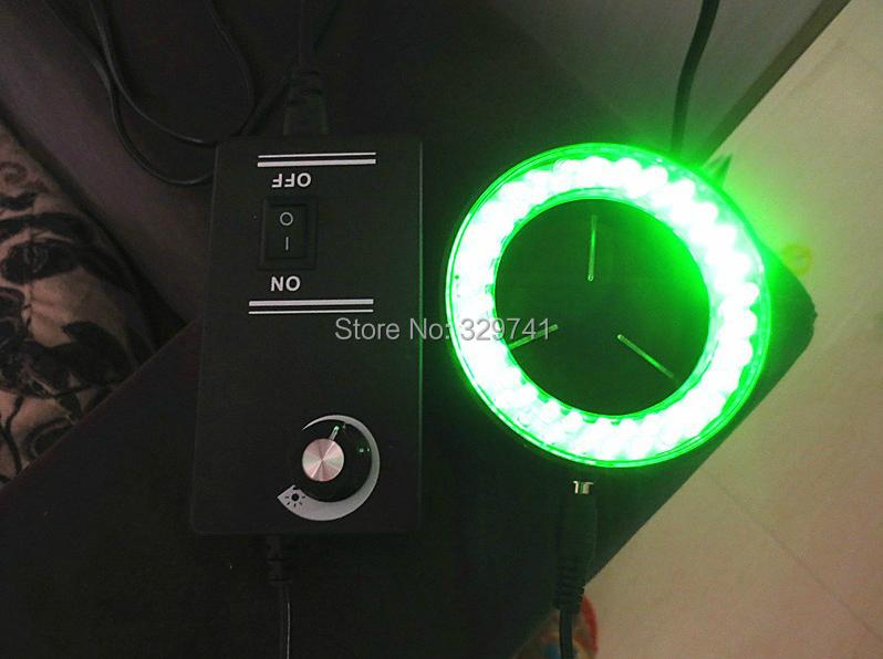 60LED Green Light Ring Lamps Microscope Light Stereo Biological Zoom Video Microscope Illuminated Accessory 110-240V(China (Mainland))