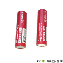 2pcs 18650 Batteries IMR 18650 40A 3.7v Rechargeable Flat Top Batteries imr18650 Electronic cigarette battery with plastic box
