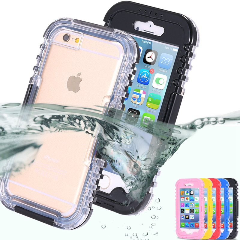 5S/4s SE Waterproof Slim Transparent Hybrid Swimming Dive Case For Apple iphone4 4S 5 5S SE Crystal Watertight Clear Pouch Cover(China (Mainland))