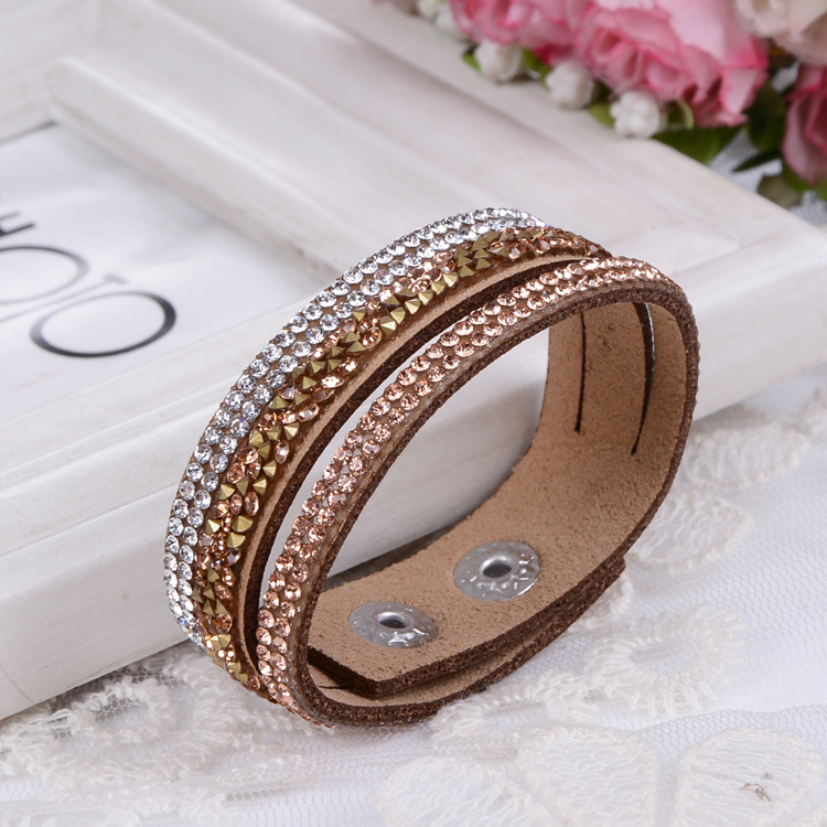 Гаджет  Multilayer Leather Bracelet Crystal Wrap Braclets For Women Long Brand Bracelets& Bangles Braclet Fashion Jewelry Wholesale None Ювелирные изделия и часы