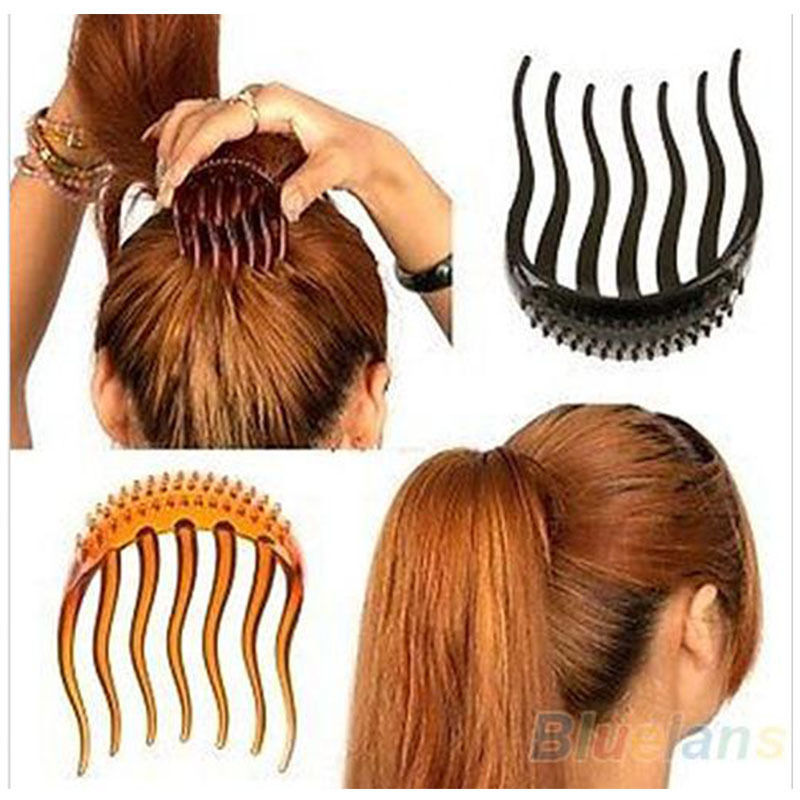 Lady Girl Tools Volume Inserts Hair Clip Hairpins Bumpits Bouffant Ponytail Comb Grips Headwear Ornaments Accessories For Woman(China (Mainland))