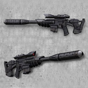 Star Wars Sniper Rifle Gun Fun 3d Paper Diy Miniature Model Kits Puzzle Toys Children Educational Boy Splicing Science Hobby